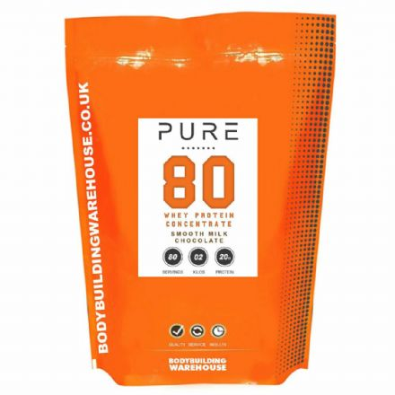 Pure Whey 80 Protein Powder; 100% Grass Fed; 1kg/2kg; Bodybuilding Warehouse